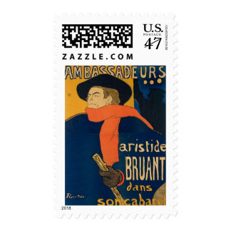 Henri Toulouse Lautrec - Aristide Bruant (Detail) Postage