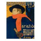 Henri Toulouse Lautrec - Aristide Bruant Postcard