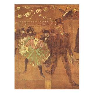 Henri Toulouse-Lautrec: Booth of La Goulue Postcard