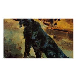 Henri Toulouse-Lautrec- Dun, a Gordon Setter Business Card Templates