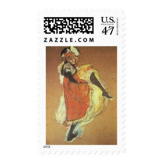 Henri Toulouse Lautrec - Jane Arvil Dancing Postage