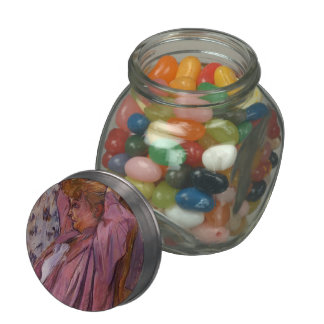 Henri Toulouse-Lautrec- The Madame Redoing Her Bun Jelly Belly Candy Jars