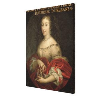 Henrietta Anne  Duchess of Orleans Canvas Print