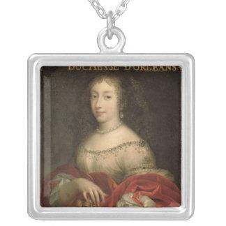 Henrietta Anne  Duchess of Orleans Square Pendant Necklace