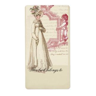 Henrietta Bookplate Custom Shipping Label
