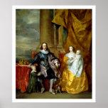 Henrietta Maria y Charles I de Van Dyck Impresiones