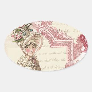 Henrietta Oval Sticker