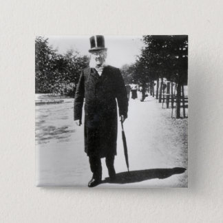 Henrik Ibsen (1828-1906) in Oslo, 1896 (b/w photo) Button