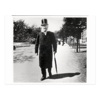 Henrik Ibsen (1828-1906) in Oslo, 1896 (b/w photo) Postcard