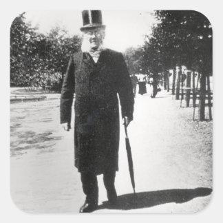 Henrik Ibsen (1828-1906) in Oslo, 1896 (b/w photo) Square Sticker