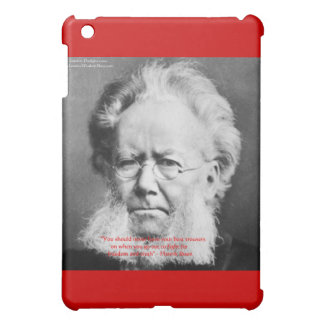 "Henrik Ibsen ""Freedom/Truth"" Wisdom Quote Gifts iPad Mini Cover"