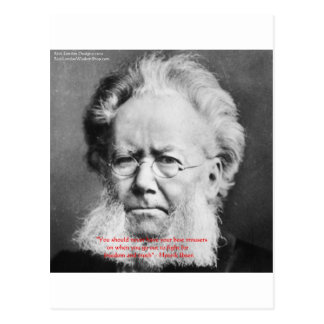 "Henrik Ibsen ""Freedom/Truth"" Wisdom Quote Gifts Postcard"