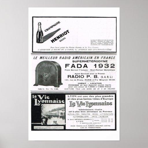 Henriot, Fada, La compite Lyonaise Posters