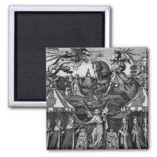 Henry 5th, his Queen and Family 2 Inch Square Magnet