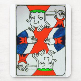 Henry 8 Mouse Pad Hold em Suicide King Poker Card