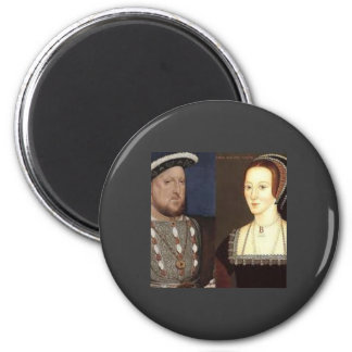 Henry 8vo y Ana Bolena Imán Redondo 5 Cm