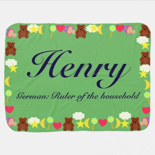 Henry Baby Blanket Template