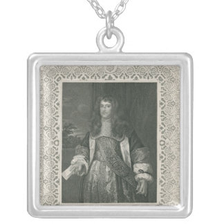 Henry Bennet, 1st Earl of Arlington Square Pendant Necklace