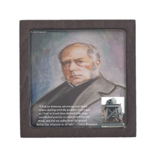 Henry Bessemer The Steel Converter & Quote Gifts Keepsake Box
