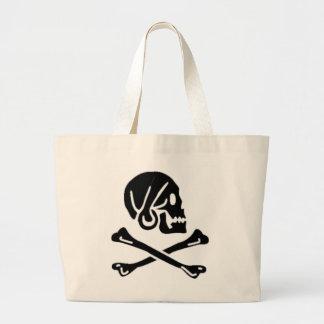 Henry cada bandera de pirata auténtica bolsa tela grande