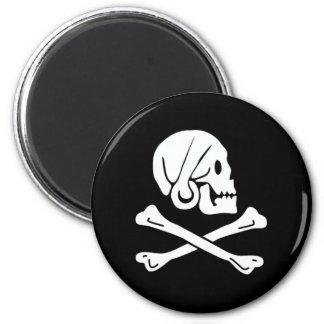 Henry cada bandera de pirata auténtica imán redondo 5 cm