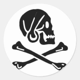 Henry cada bandera de pirata auténtica pegatinas