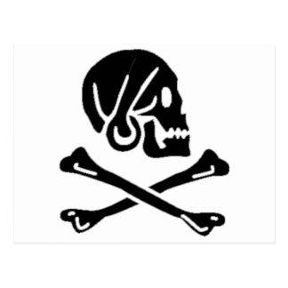 Henry cada bandera de pirata auténtica postal