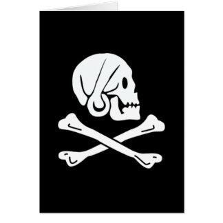 Henry cada bandera de pirata auténtica tarjeta de felicitación