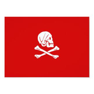 Henry cada invitaciones (rojas) invitación 12,7 x 17,8 cm
