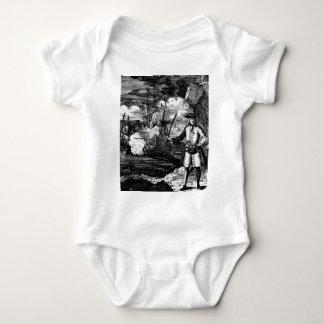 Henry cada retrato del pirata body para bebé