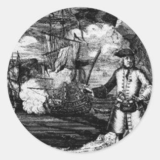 Henry cada retrato del pirata pegatina redonda