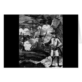 Henry cada retrato del pirata tarjeta de felicitación
