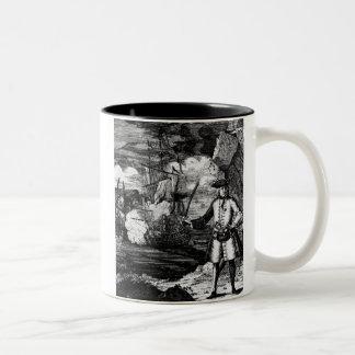 Henry cada retrato del pirata taza de café de dos colores