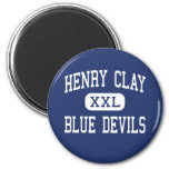 Henry Clay - Blue Devils - High - Lexington Fridge Magnet