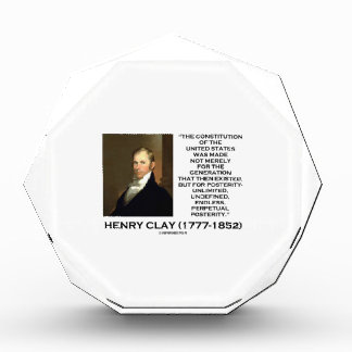 Henry Clay Constitution Of United States Posterity Award