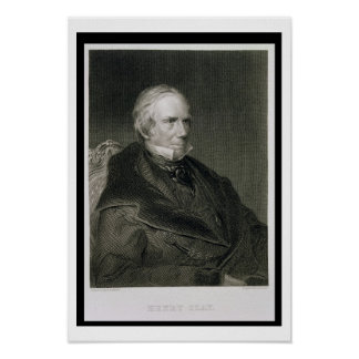 Henry Clay, engraved by Alfred Sealey (d.1862) aft Poster