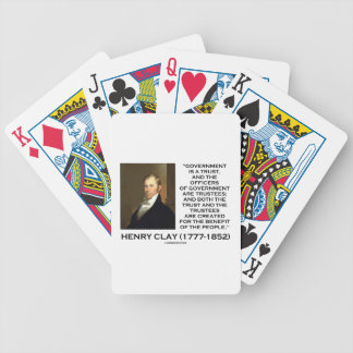 Henry Clay Govt Trust Officers Are Trustees Quote Bicycle Playing Cards