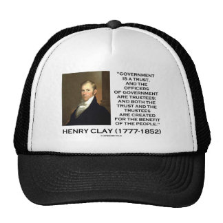 Henry Clay Govt Trust Officers Are Trustees Quote Mesh Hat