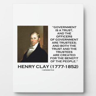 Henry Clay Govt Trust Officers Are Trustees Quote Plaque
