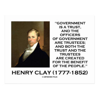 Henry Clay Govt Trust Officers Are Trustees Quote Post Card