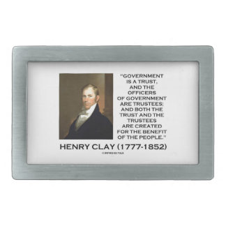 Henry Clay Govt Trust Officers Are Trustees Quote Rectangular Belt Buckle