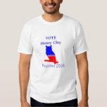 Henry Clay para el presidente camiseta Remeras
