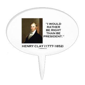 Henry Clay tendría bastante razón que el Figuras De Tarta