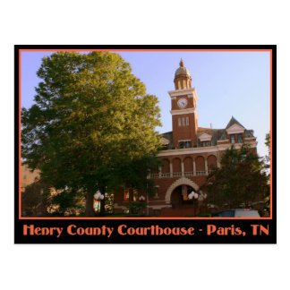 Henry County Courthouse - Paris, TN Postcard