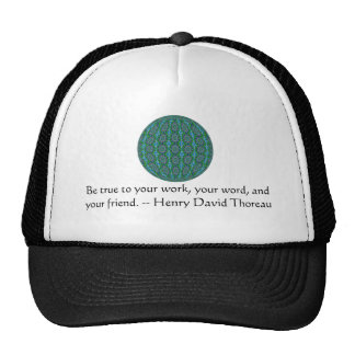 Henry David qoute with primitive tribal design Hat