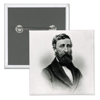 Henry David Thoreau 2 Inch Square Button