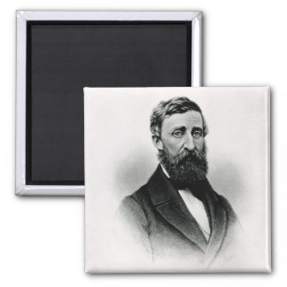 Henry David Thoreau 2 Inch Square Magnet