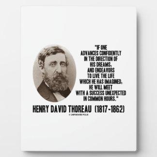 Henry David Thoreau Advance Confidently Dreams Plaque