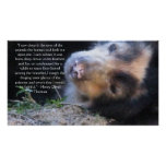 Henry David Thoreau  ANIMAL RIGHTS Quote Print