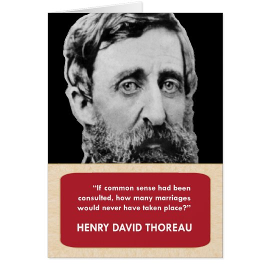Henry David Thoreau Anti-Valentine's Day Card